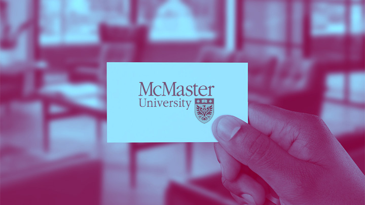 mcmaster logo on card